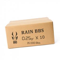 BO RAIN 593 BIO - 3500 Billes - 0,25g au carton ( 35000 bbs)
