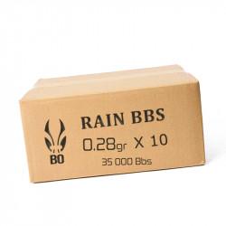 BO RAIN 593 BIO - 3500 Billes - 0,28g au carton ( 35000 bbs)