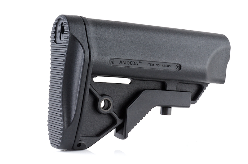 Ares Amoeba Butt Stock For Ameoba Amp Aeg M4 Series Black