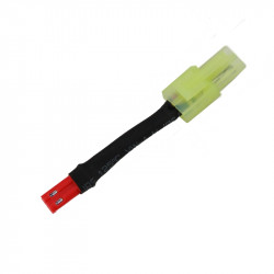 battery wire plug converter JST male to mini Tamiya male - HPA -